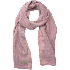 Écharpe d'allaitement en mousseline de coton rose