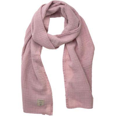 Écharpe d'allaitement en mousseline de coton rose  par Lässig