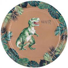 Lot de 8 assiettes en carton Dinosaure Party