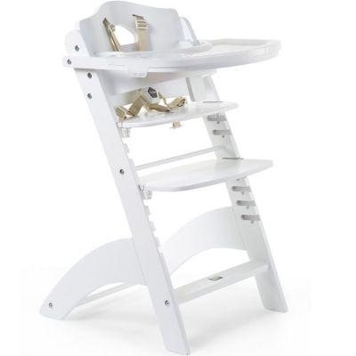 Chaise haute évolutive en bois Lambda 3 blanc  par Childhome