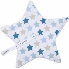 Doudou attache sucette Mixed Stars Mint