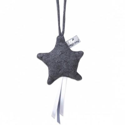Etoile décorative à suspendre Cable Uni gris anthracite  par Baby's Only