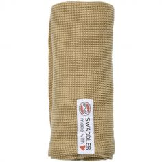 Lange en coton Ciumbelle miel (70 x 70 cm)
