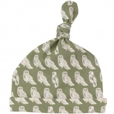 Bonnet noué Hibou vert (0-5 mois)