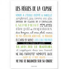 Affiche Les règles de la classe (A2)
