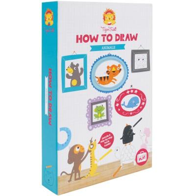 Coffret à dessins Comment dessiner des animaux