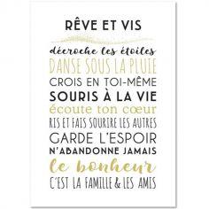 Carte décorative Je vous souhaite (15 x 21 cm)