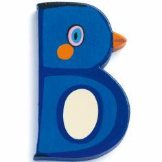 Lettre B en bois Pingouin Achille