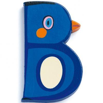 Lettre B en bois Pingouin Achille   par Djeco