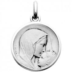 Médaille Baiser à l'enfant (or blanc 750°)