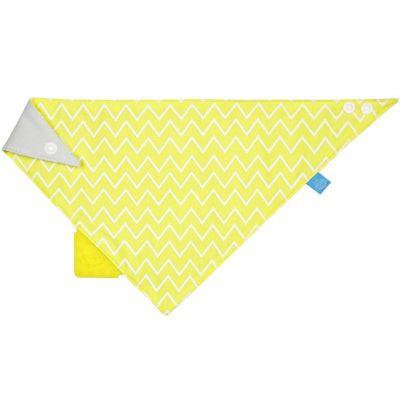 Bavoir bandana avec élément de dentition Zigzag jaune  par Lässig