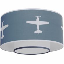 Abat-jour Airplane gris bleu  par Taftan