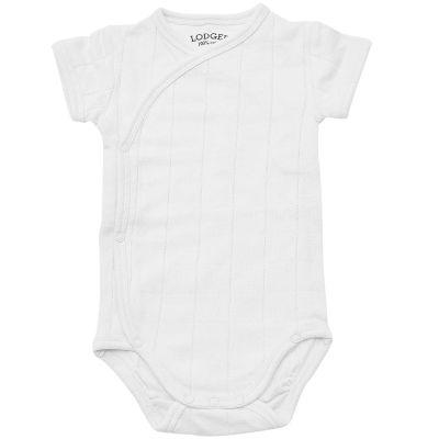 Body manches courtes blanc (2-4 mois : 57-62 cm)  par Lodger