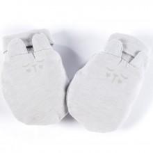 Moufles de naissance Hello Baby gris clair  par Walking Mum