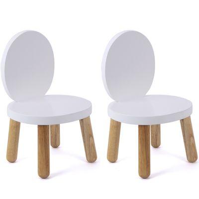 Lot de 2 petites chaises Ovaline blanches Pioupiou et Merveilles