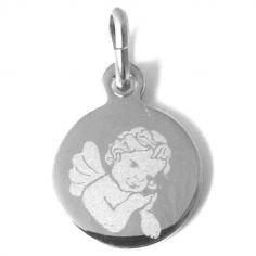 Médaille Ange pensif garçon (argent rhodié 925°)