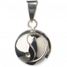 Bola argenté yin et yang