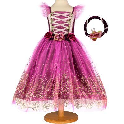Robe de princesse Plum violette (6-8 ans)