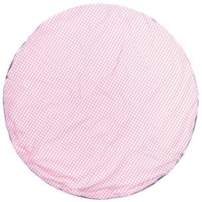 Tapis de jeu rond rversible en coton ecailles rose 120 cm - Tapis rond 120 cm ...