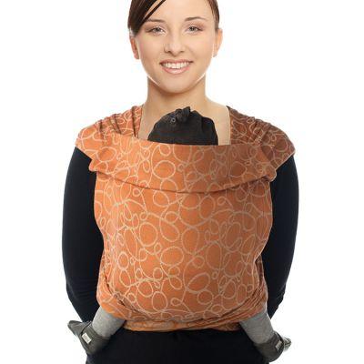 Porte bébé chinois BB-Tai Jacquard coton bio orange  par Babylonia carriers