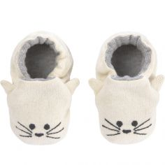 Chaussons Little Chums chat (0-6 mois)