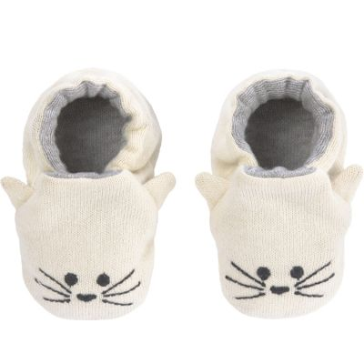 Chaussons Little Chums chat (0-6 mois)  par Lässig