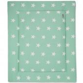 Tapis de parc Star vert menthe et blanc (75 x 95 cm) - Baby's Only