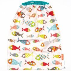 Bavoir élastiqué poissons