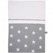 Housse de couette Star gris et blanc (100 x 135 cm) - Baby's Only