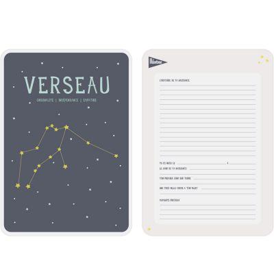 Affiche signe astrologique Verseau (21,4 x 32,5 cm)  par Milestone