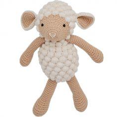 Peluche mouton beige (30 cm)