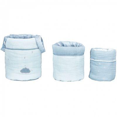 Lot de 3 paniers de toilette Lily mint (18 x 21 cm)  par Sauthon