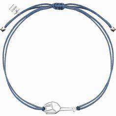 Bracelet sur cordon bleu girafe Origami (argent 925°)