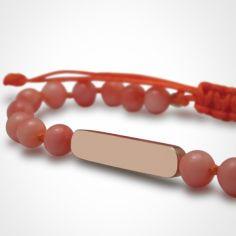 Bracelet Maracas perles (or rose 750° et corail)