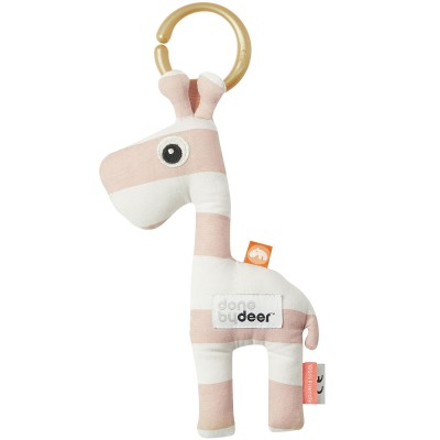 Jouet d'éveil à suspendre Raffi la girafe rose  par Done by Deer