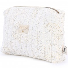 Trousse de toilette Travel blanche Gold bubble