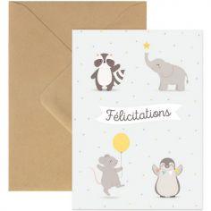 Carte animaux Félicitations
