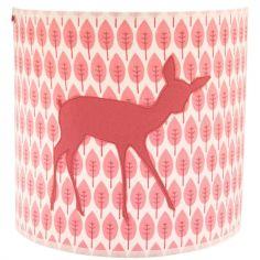 Applique murale circulaire Bambi rose (22 x 20 cm)