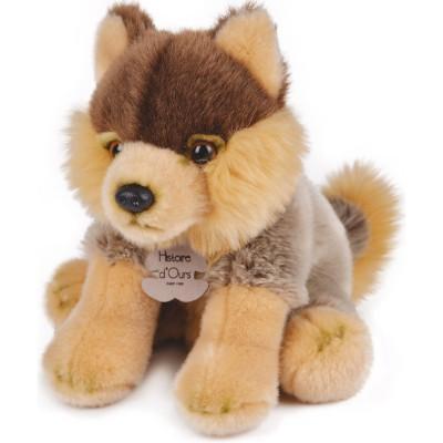 Coffret peluche loup Les authentiques (20 cm) Histoire d'Ours
