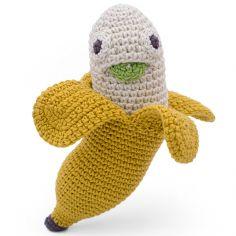 Hochet Joshua la banane (16 cm)