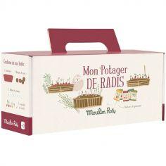Kit jardinière rouge radis Le Jardin du Moulin