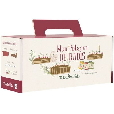 Kit jardinière rouge radis Le Jardin du Moulin  par Moulin Roty