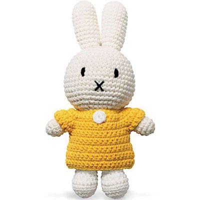 Peluche Miffy jaune (25 cm)  par Just Dutch