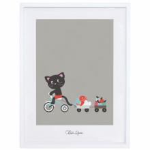 Affiche encadrée Petit tour de tricycle by Chloe Lefeuvre (30 x 40 cm)  par Lilipinso