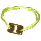 Bracelet cordon papa Lucky number rectangle 23 mm (or jaune 750°) - Loupidou