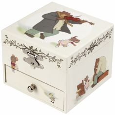 Boîte à bijoux musicale cube Ernest et Célestine