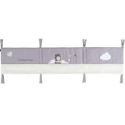 tour de lit respirant capuchon ours gris pour lits 60 x. Black Bedroom Furniture Sets. Home Design Ideas