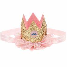 Bandeau couronne anniversaire dorée  par Souza For Kids