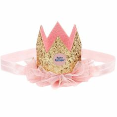 Bandeau couronne anniversaire dorée