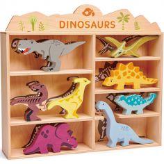 Set animaux en bois Dinosaures